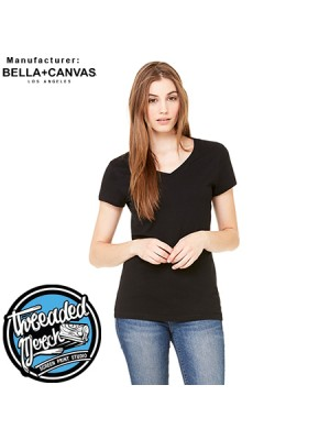 Bella + Canvas B6005 Ladies' Jersey Short-Sleeve V-Neck T-Shirt
