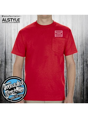 1305 Alstyle Men's Short Sleeve Pocket T Shirt 100% Cotton