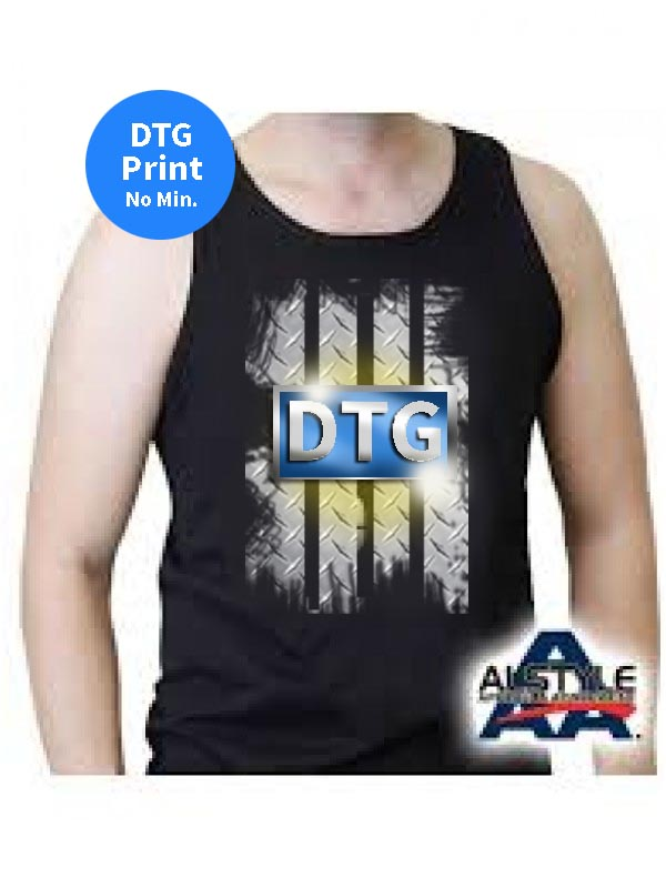 Digital printed men 39 s adult 100 cotton tanks with tear for T shirt printing in palmdale ca