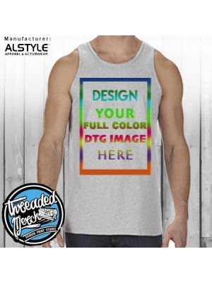 1307 100% Cotton Adult Tank Top 6.0 oz. - DTG Printing
