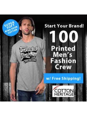 100 Custom Screen Printed Mens Fashion Ring Spun  T Shirts Special MC1044