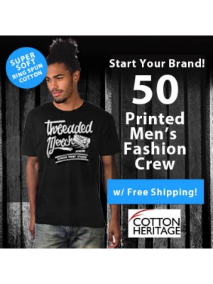 50 Custom Screen Printed Mens Fashion Ring Spun  T Shirts Special MC1044