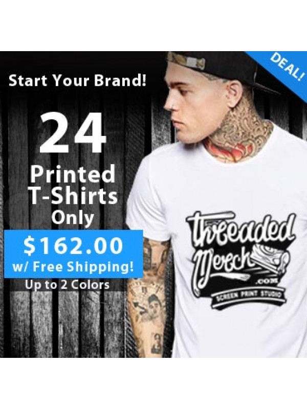 24 Custom Screen Printed T Shirts Special