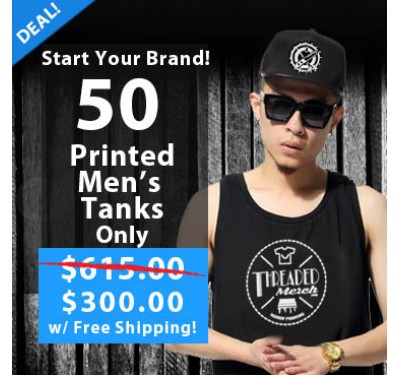 50 Printed Mens Tanks