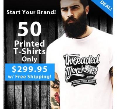 50 Printed T shirts
