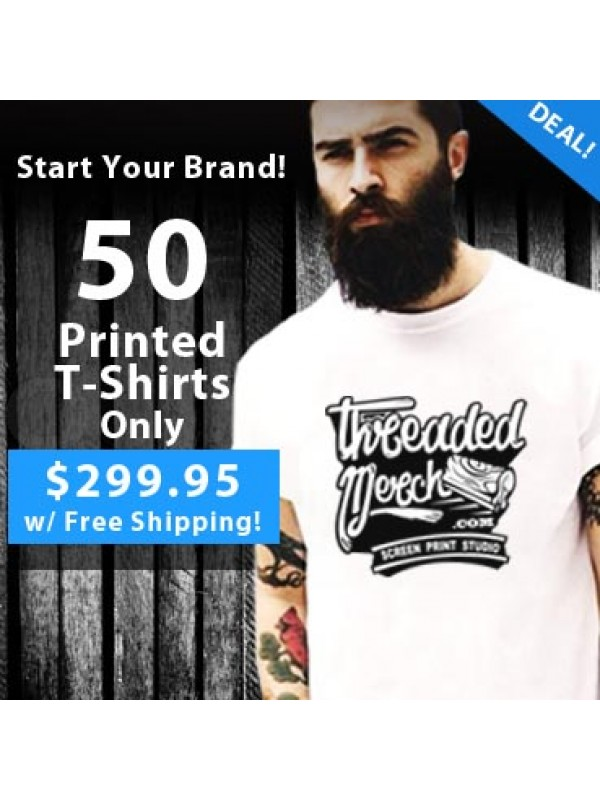 50 Custom Screen Printed T Shirts Special