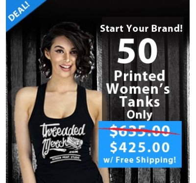 50 Printed Ladies Tanks