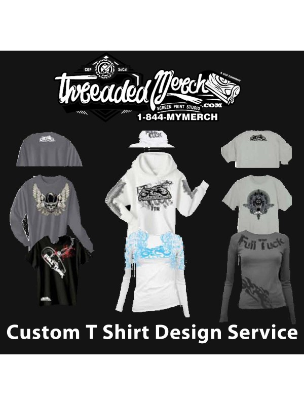 Threaded Merch - We will Design You a Custom T Shirt Design for your