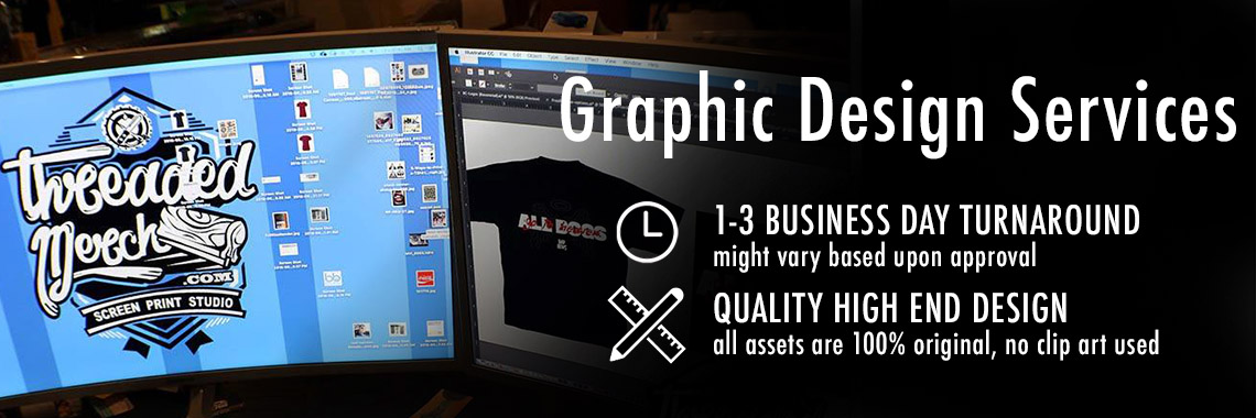 About Threaded Merch - Palmdale Screen Printing - Los Angeles Best Graphic Design Services - Web Designer - Logo Design