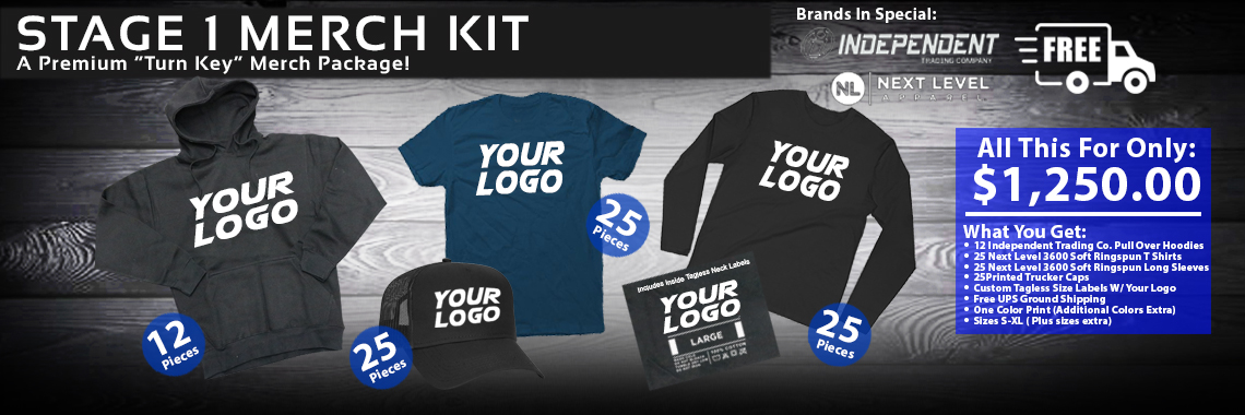 Threaded Merch Screen Printing Specials with Free Shipping!