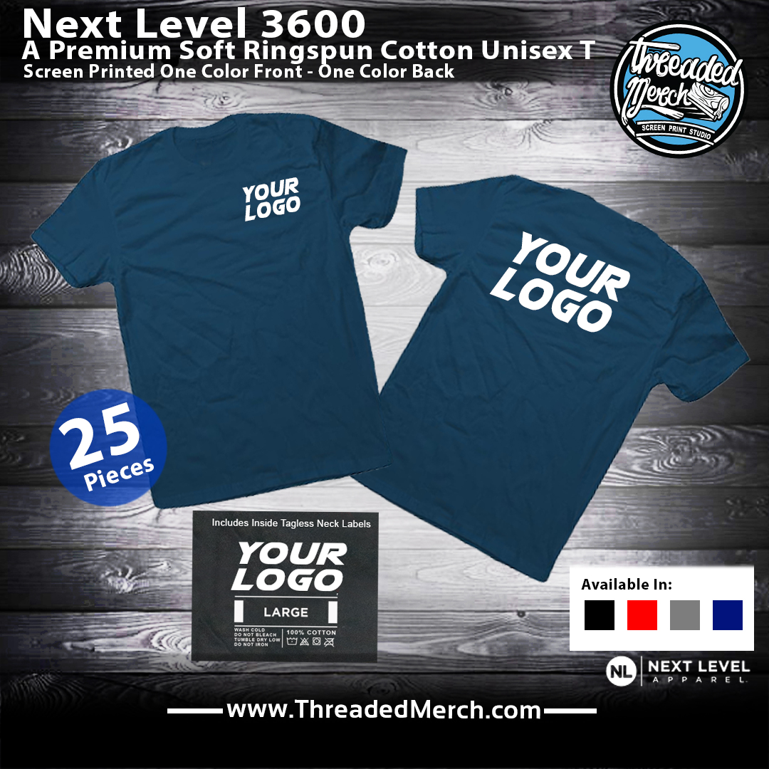 Next Level 3600 Special T shirts Printed - Threaded Merch - Palmdale Screen Printing - Los Angeles Best Graphic Design Services - Web Designer - Logo Design